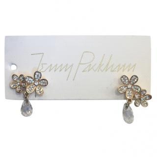 Jenny Packham Crystal Daisy Drop Earrings