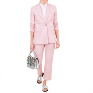 Victoria Victoria Beckham Pink Striped Tailored Jacket
