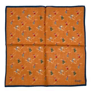 Drake's Mustard Ski Wool & Silk Handkerchief