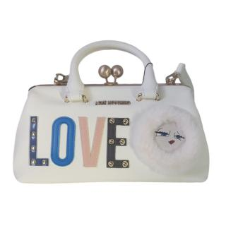 Love Moschino Ivory Patches Shoulder Bag