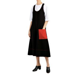 Joseph Black Flou Bias Cut Sleeveless Dress