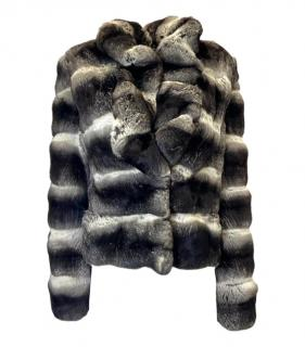 Mala Mati Natural Grey Chinchilla Fur Jacket