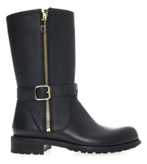 Jimmy Choo Durum Leather Biker Boots