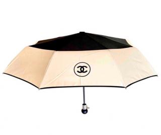 Chanel Two-Tone Nylon Umbrella