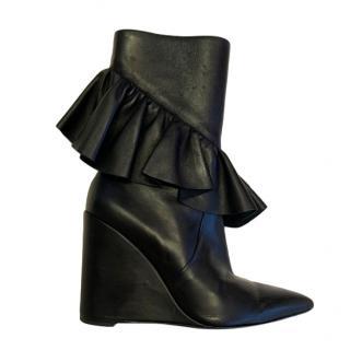 JW Anderson Ruffle Trim Wedge Boots