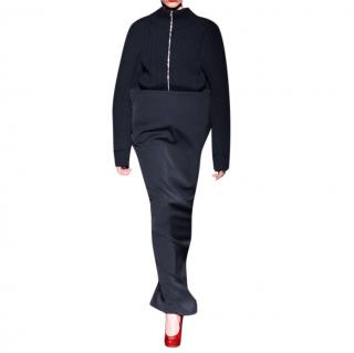 Maison Margiela Black Wool Ribbed Jacket
