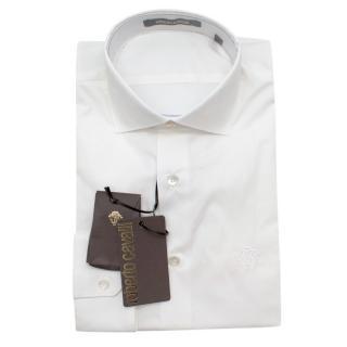 Roberto Cavalli White Cotton Long Sleeve Shirt