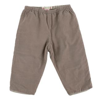 Bonpoint Taupe Corduroy Trousers