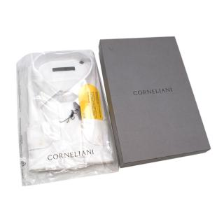 Corneliani White Jersey Long Sleeve Shirt