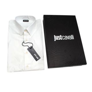 Just Cavalli White Cotton Long Sleeve Shirt