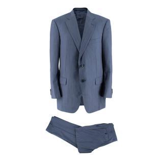 Pal Zileri Blue Pinstripe Single Breasted Suit