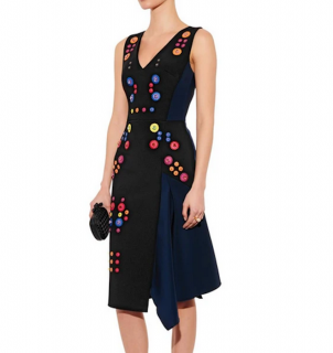 Peter Pilotto Calli Crepe Embellished Dress