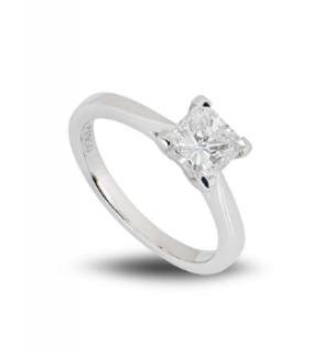 Bespoke Platinum Radiant Cut Diamond Ring 1.03ct F/VS1