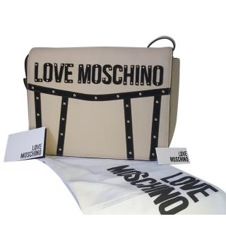 Love Moschino Studded Leather Satchel Bag