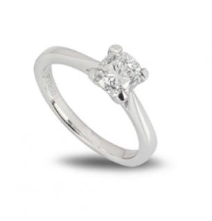 Bespoke Platinum Cushion Cut Diamond Ring