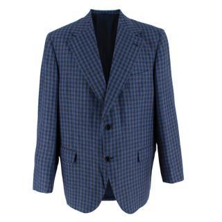 Donato Liguori Blue & Grey Tailored Blazer Jacket