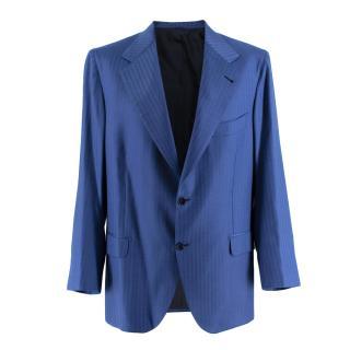 Donato Liguori Navy Fine Striped Tailored Blazer