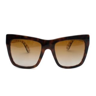 Dolce & Gabbana Brown Tortoise Shell Sunglasses