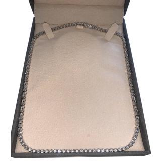 Bespoke 14k White Gold Diamond Tennis Necklace