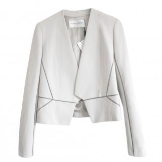 Amanda Wakeley Pale Grey Asayii Jacket