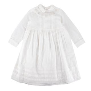 Bonpoint White Cotton Embroidered Dress