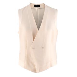 Kilgour Savile Row Beige Mohair Blend Waistcoat