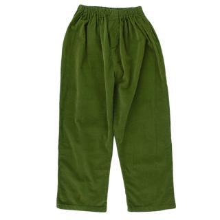 M. Ferrari Green Corduroy Velvet Trousers