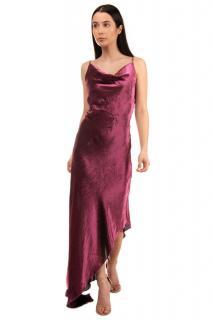 Juan Carlos Obando Silk Blend Asymmetric Cowl Neck Dress