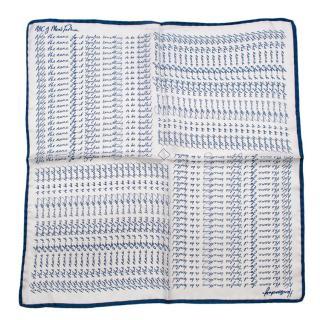 Bespoke Blue & White 'Note The Name' Handkerchief
