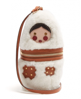 See By Chloe Russian Doll shearling clutch