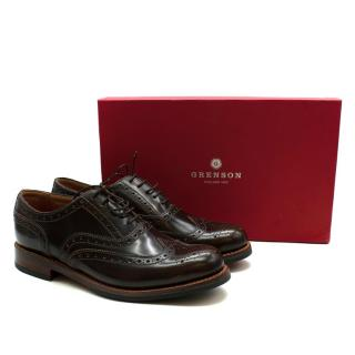 Grenson Brown Leather Stanley Brogues