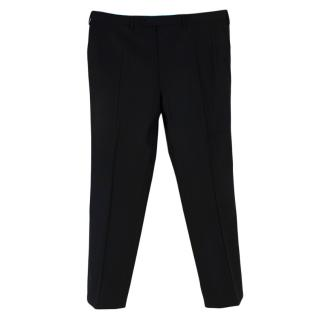 Donato Liguori Black Wool Hand Tailored Trousers