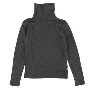 Bonpoint Grey Cotton Turtleneck Sweater