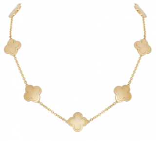 Van Cleef & Arpels Yellow Gold Pure Alhambra Necklace