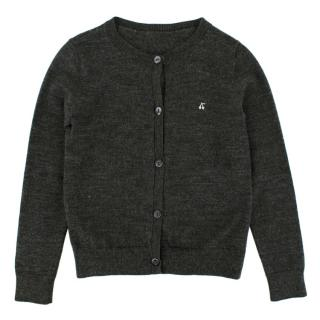 Bonpoint Dark Grey Wool Cardigan