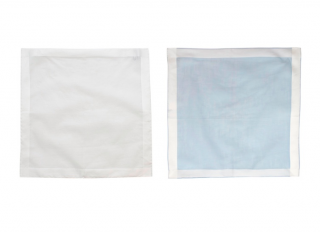 Anderson & Sheppard Set of 2 White & Blue Cotton Handkerchiefs