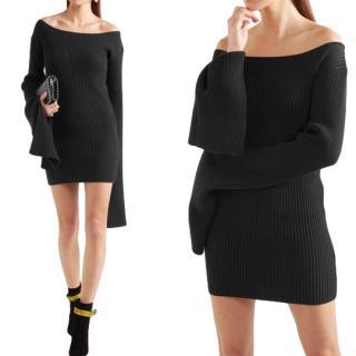 Solace London Off Shoulder Knit Mini Dress