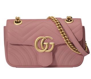 Gucci Marmont Pink Mini Matelasse Shoulder Bag