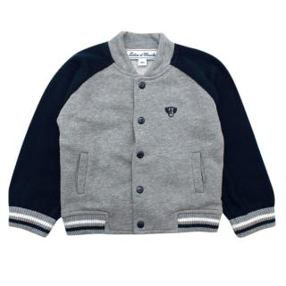 Tartine et Chocolat Grey & Blue Cotton Bomber Jacket