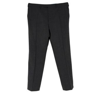 Donato Liguori Grey Wool Hand Tailored Trousers