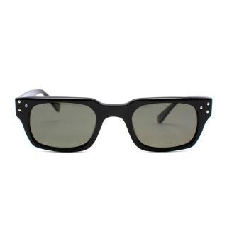 E.B. Meyrowitz Black Sunglasses With E. Marinella Case