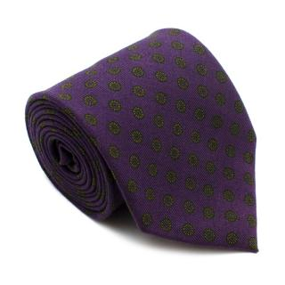 E.Marinella Purple With Green Pattern Tie
