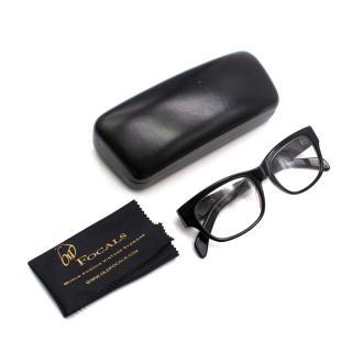 Old Focals Black Acetate Square Optical Glasses