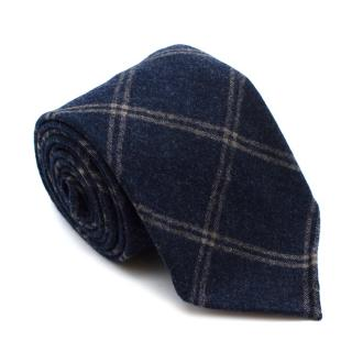 Tie Your Tie Blue Checkered Wool Tie