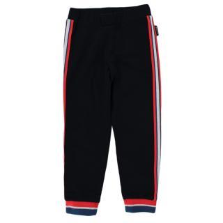 Moncler Navy Cotton Side Stripe Sweatpants