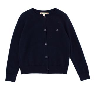 Bonpoint Navy Wool Knit Cardigan