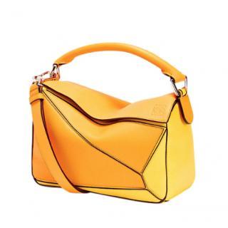 Loewe Mandarin & Yellow Puzzle Leather Bag