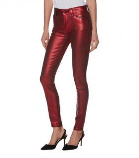 Paige Metallic Hoxton Ultra Skinny Jeans