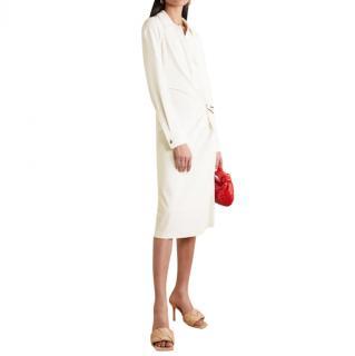 Bottega Veneta Stretch Jersey Wrap Style Midi Dress