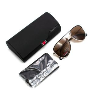 Carrera Silver & Black Aviator Sunglasses